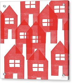 Red Houses- Art By Linda Woods Acrylic Print