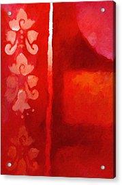 Red Impasto Acrylic Print by Lutz Baar
