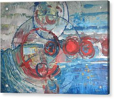 Acrylic Print featuring the painting Red Infinity by John Fish