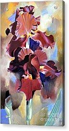 Red Irises Acrylic Print by Michael Stoyanov