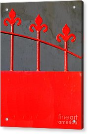 Red Iron Gate Acrylic Print by Yali Shi