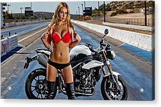 Red Is Not Always For Ducati Acrylic Print