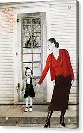 Red Jane - Self Portrait Acrylic Print by Jaeda DeWalt