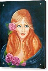 Red Acrylic Print by Joni McPherson