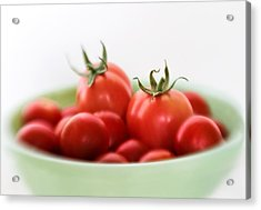 Red Juicy And Home Grown Tomatoes Acrylic Print by David and Carol Kelly