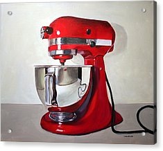 Red Kitchen Mixer Acrylic Print