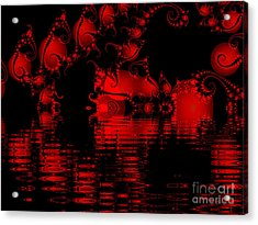 Red Lake Cave Fractal Acrylic Print