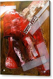 Red Lamp Transformation Acrylic Print by Evguenia Men