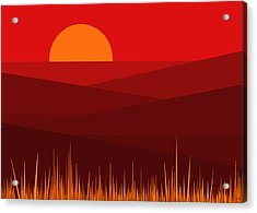 Red Landscape Acrylic Print