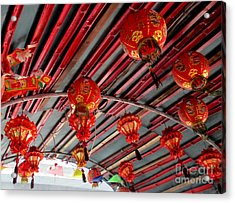 Acrylic Print featuring the photograph Red Lanterns 1 by Randall Weidner