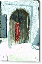 Red Laundry Acrylic Print by Jennifer Kelly