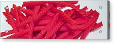 Red Licorice  Acrylic Print by Martin Cline