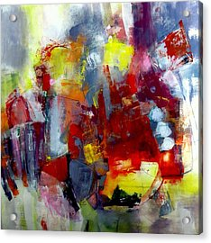 Acrylic Print featuring the painting Red Light by Katie Black
