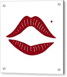 Red Lips Acrylic Print by Frank Tschakert