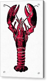 Red Lobster Acrylic Print by Edward Fielding