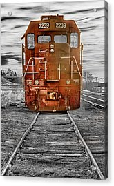 Red Locomotive Acrylic Print