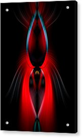 Acrylic Print featuring the photograph Red Lure by Cherie Duran
