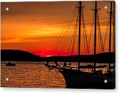 Red Maine Sunrise Acrylic Print