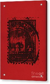 Red Mark Acrylic Print by Brian Drake - Printscapes