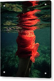 Red Mermaid Acrylic Print