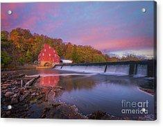 Red Mill Swirls  Acrylic Print