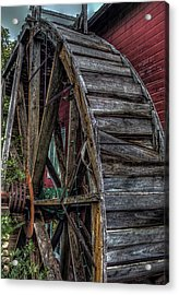 Red Mill Wheel 2007 Acrylic Print by Trey Foerster