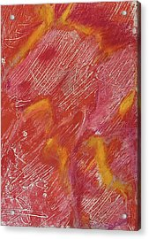 Red Monoprint One Acrylic Print