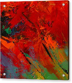 Acrylic Print featuring the painting Red Mood by Elise Palmigiani