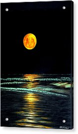 Red Moon Rising Acrylic Print