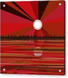 Red Moonshine Acrylic Print