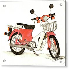 Red Motor Bike Acrylic Print