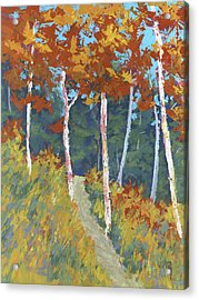Red Mountain Aspens Acrylic Print