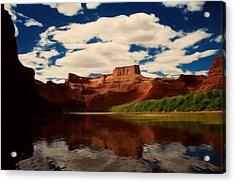 Red Mountain Acrylic Print by Lori DeBruijn
