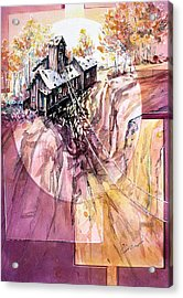 Red Mountain Mine Acrylic Print