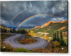 Red Mountain Rainbow Acrylic Print