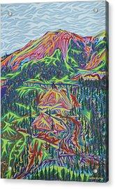 Red Mountain Acrylic Print by Robert SORENSEN