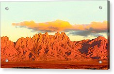 Red Mountain Sunset Organs Acrylic Print by Jack Pumphrey