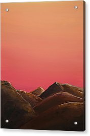 Acrylic Print featuring the painting Red Mountains by Elizabeth Lock