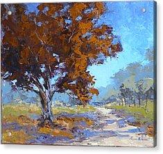 Red Oak Acrylic Print by Yvonne Ankerman