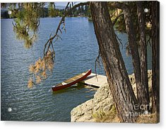 Red On Blue Acrylic Print by Idaho Scenic Images Linda Lantzy