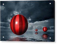 Red Orbs Acrylic Print by Judi Quelland