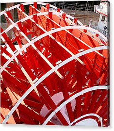 Red Paddle Wheel Acrylic Print