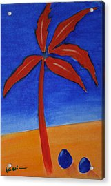 Red Palm Acrylic Print