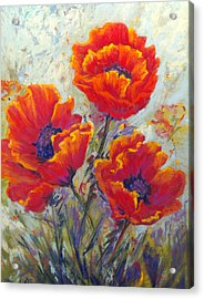 Red Passion Acrylic Print by Bente Hansen