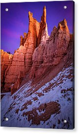 Red Peaks Acrylic Print by Edgars Erglis