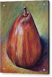 Red Pear Acrylic Print by Hillary Gross