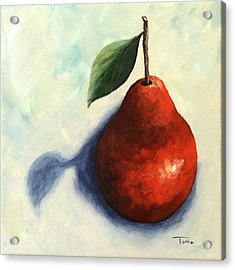 Red Pear In The Spotlight Acrylic Print by Torrie Smiley
