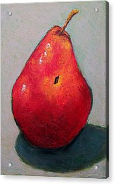 Red Pear Acrylic Print by Joyce Geleynse