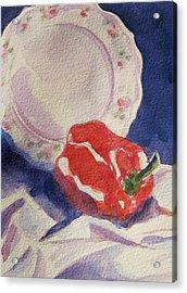 Red Pepper Acrylic Print by Marsha Elliott