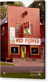 Red Pepper Restaurant Acrylic Print